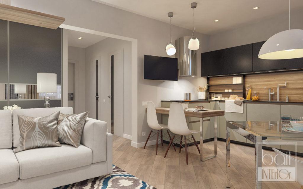 дизайн небольшой гостиной в стиле минимализм