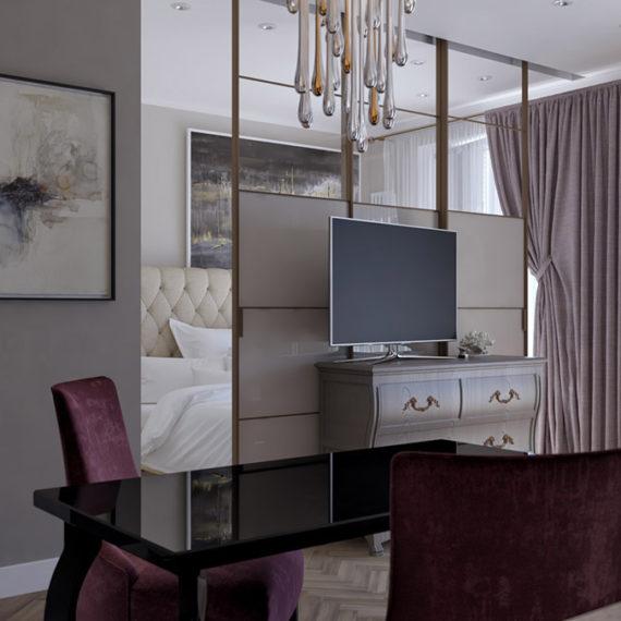 Дизайн интерьера квартиры-студии «Море-Парк»