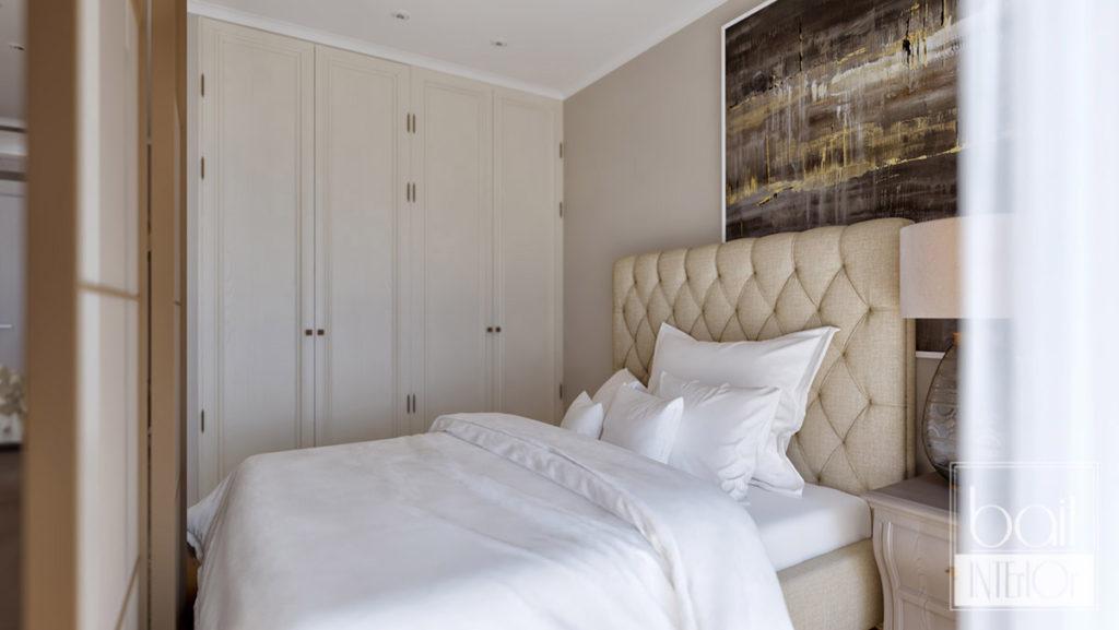 дизайн интерьера спальни для квартиры - студии