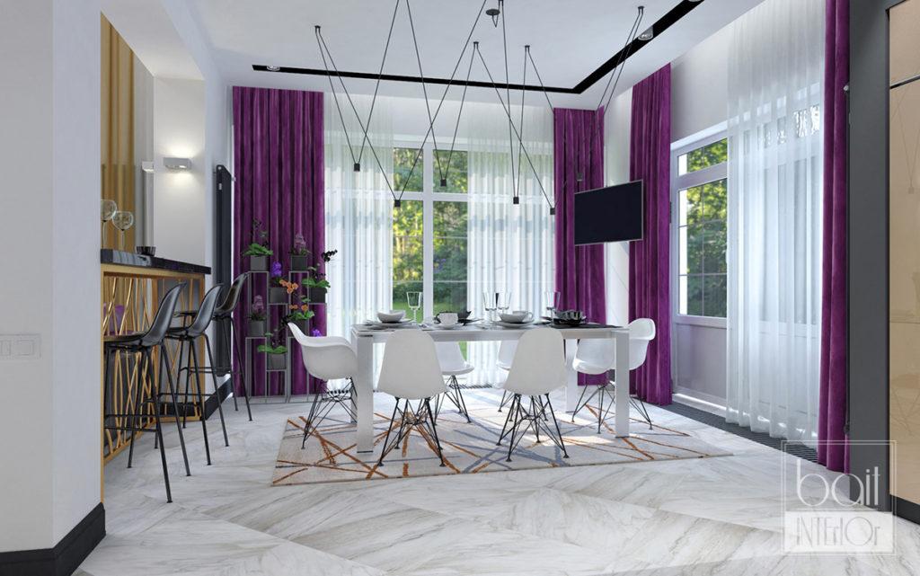 дизайн минималистичной столовой