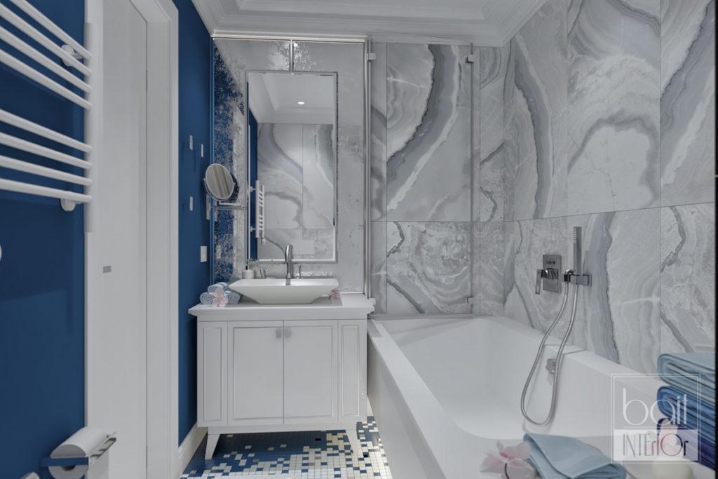 дизайн интерьера стильной ванной