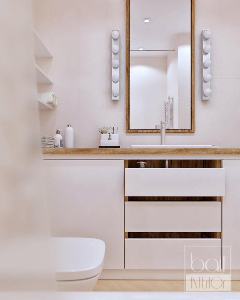 интерьер светлой ванной