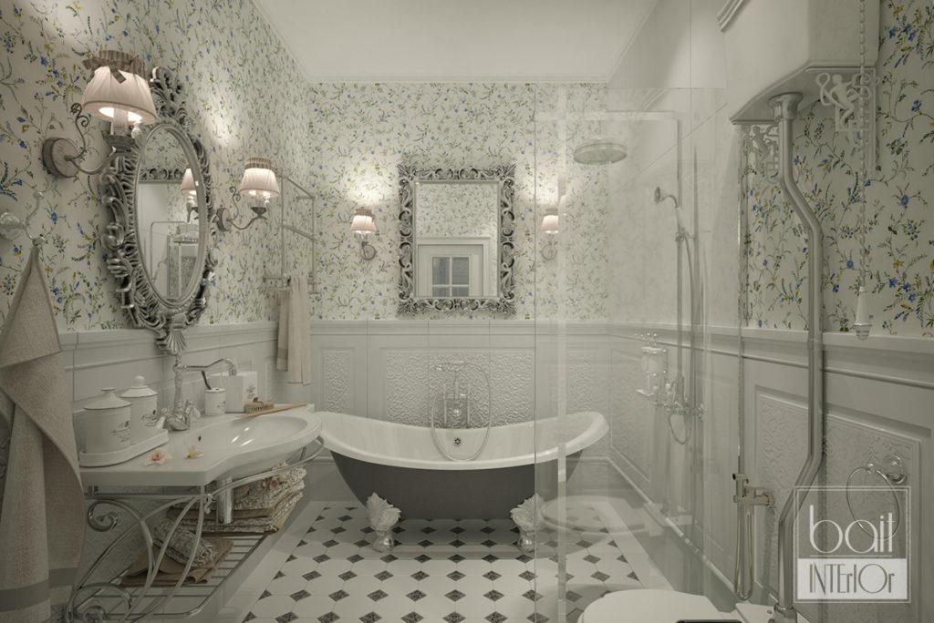 дизайн интерьера ванной в стиле прованс