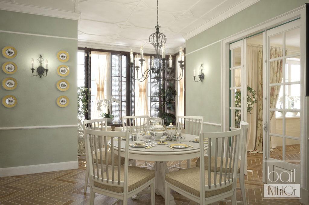 Дизайн интерьера в стиле столовой прованс