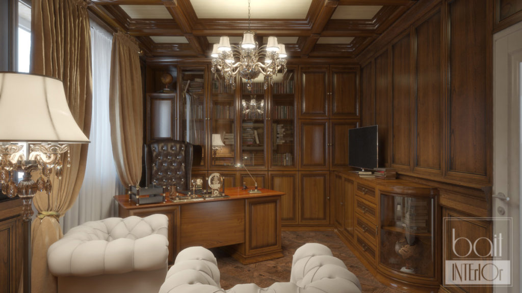 дизайн классического кабинета