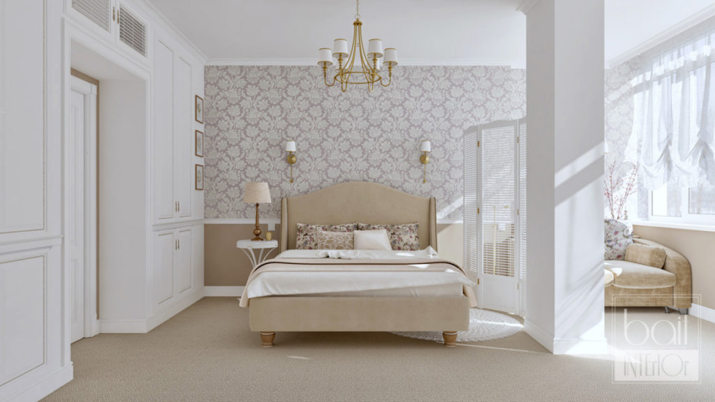 дизайн интерьера спальни с стиле прованс