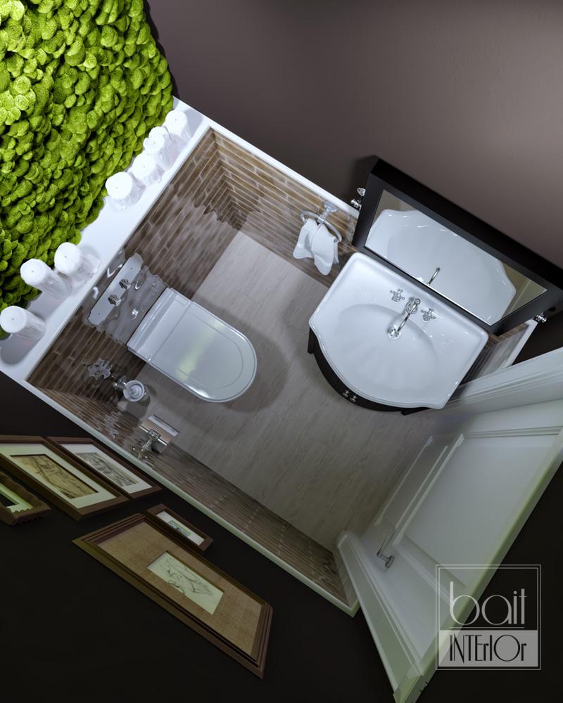 дизайн санузла с растениями
