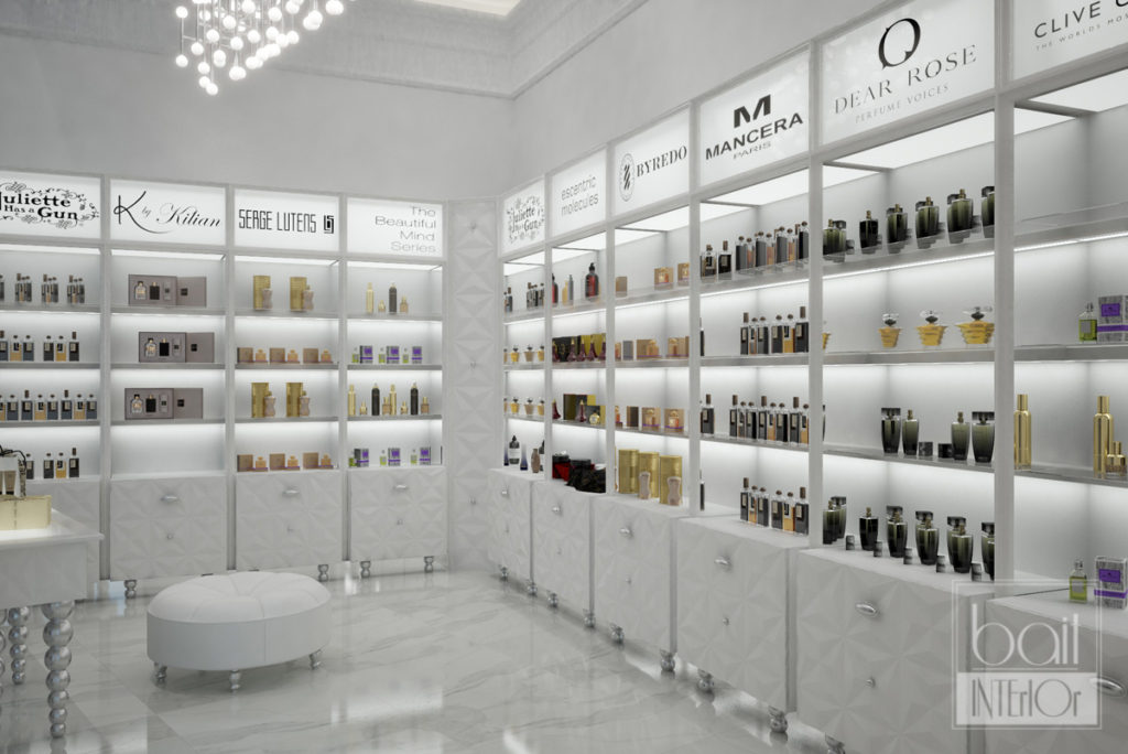 Дизайн-проект магазина парфюмерии в ТРК OZ mall