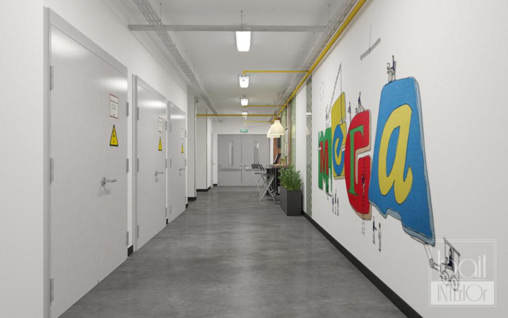 Дизайн интерьера зоны для арендаторов Икея - МЕГА
