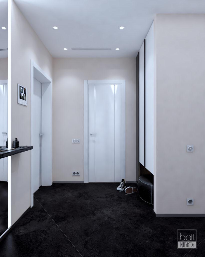 Дизайн черно-белого интерьера в стиле минимализм