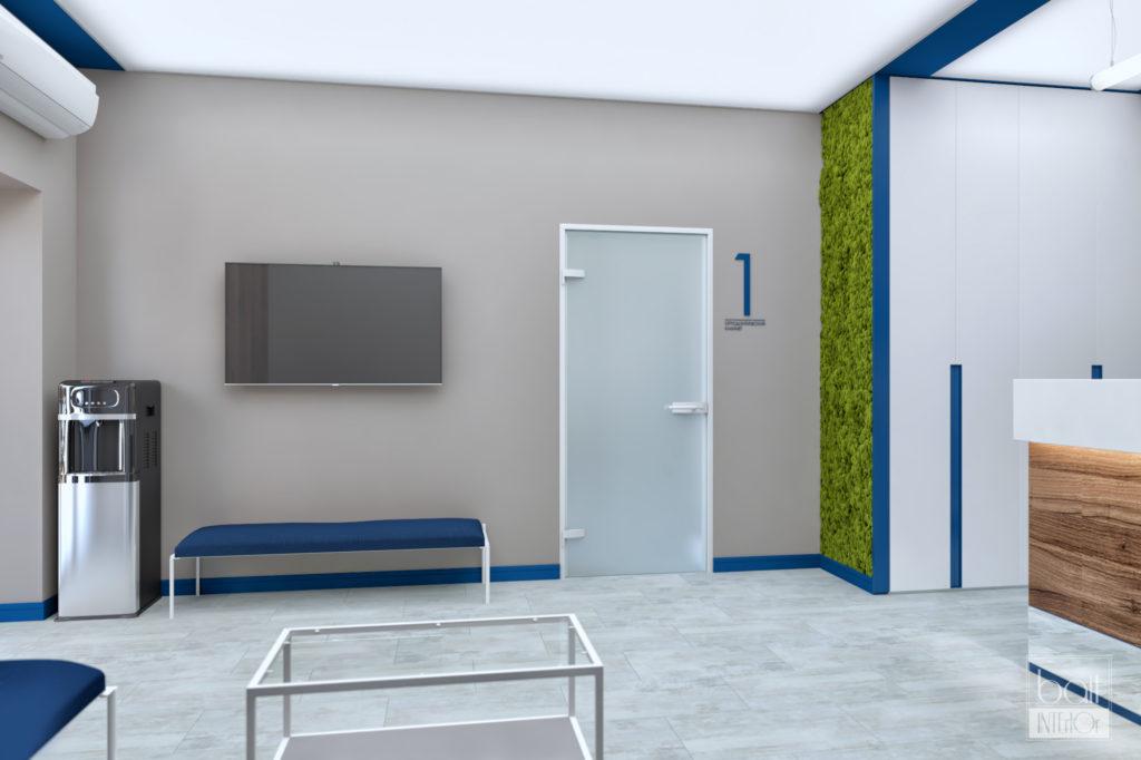 Дизайн интерьера стоматологической клиники в Краснодаре