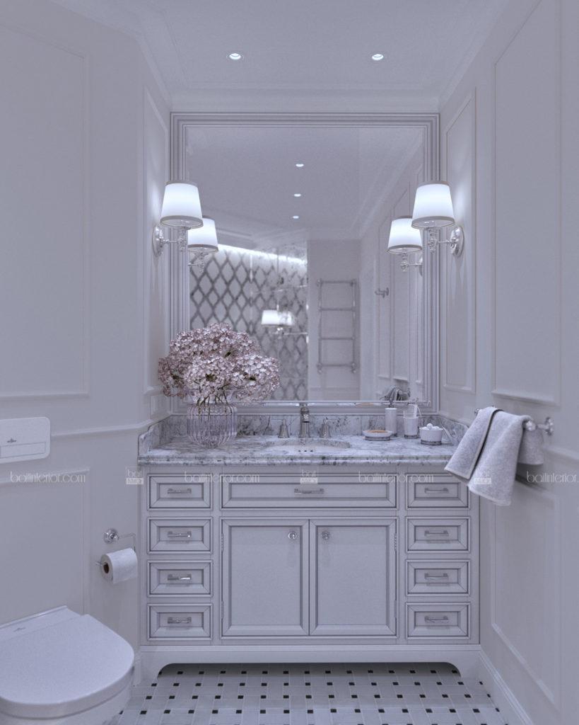 классическая ванная с камнем