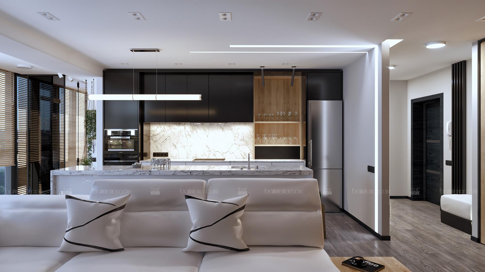 Дизайн интерьера квартиры в стиле минимализм.