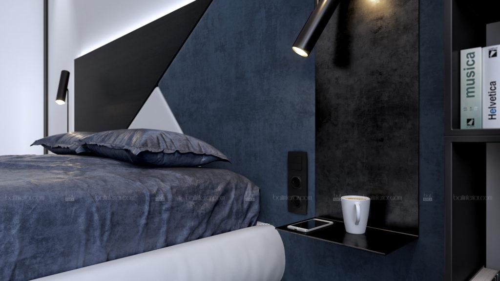 дизайн интерьера спальни в стиле минимализм