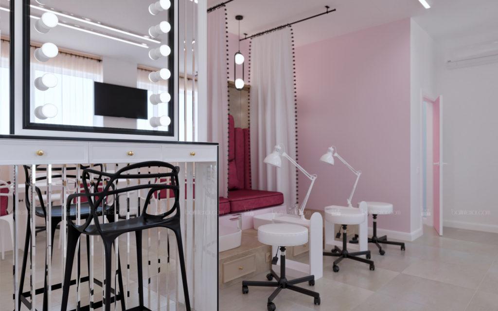 дизайн интерьера ногтевого салона красоты