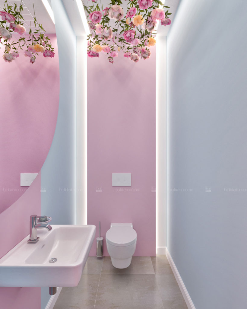 дизайн интерьера санузла маникюрного салона