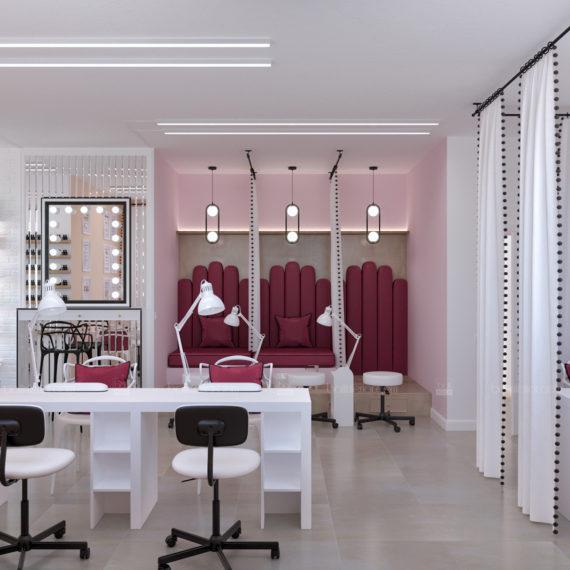 Дизайн интерьера маникюрного салона «Commode nails»