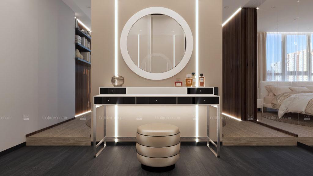 дизайн зоны туалетного столика