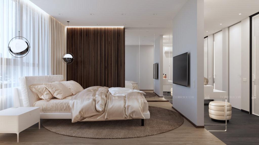 дизайн интерьера спальни с рейками