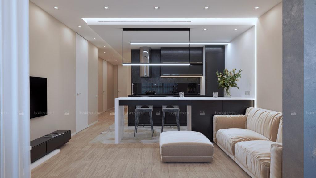 дизайн интерьера черной кухни