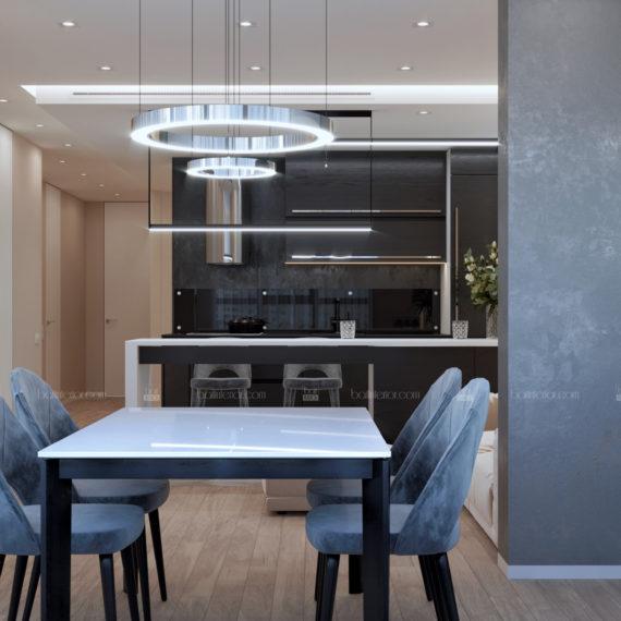 Интерьер квартиры в стиле минимализм в Краснодаре