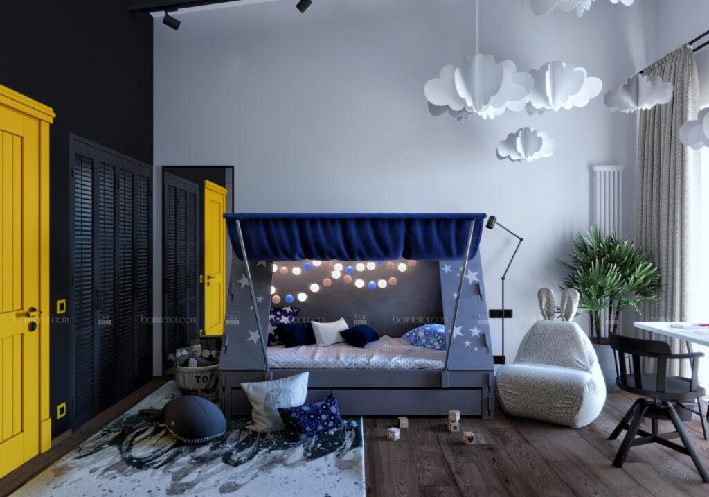 дизайн детской с кроватью-палаткой