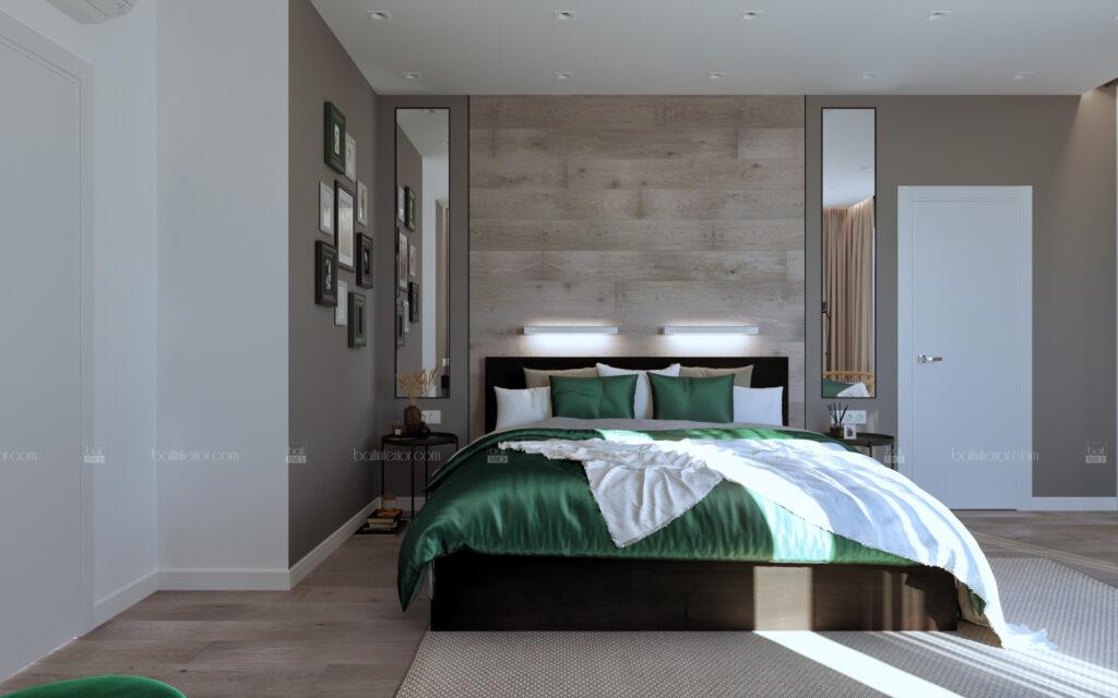 интерьер минималистичной спальни в Туапсе