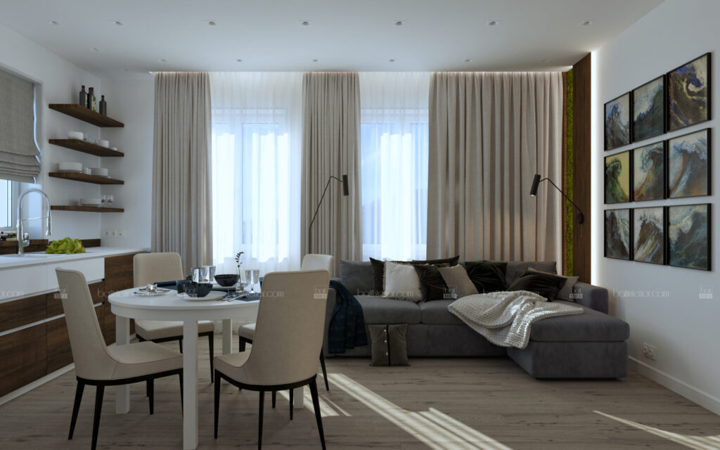 дизайн интерьера гостиной в Туапсе