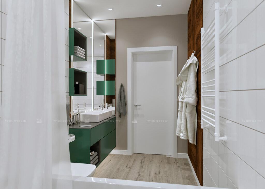 дизайн интерьера функциональной современной ванной