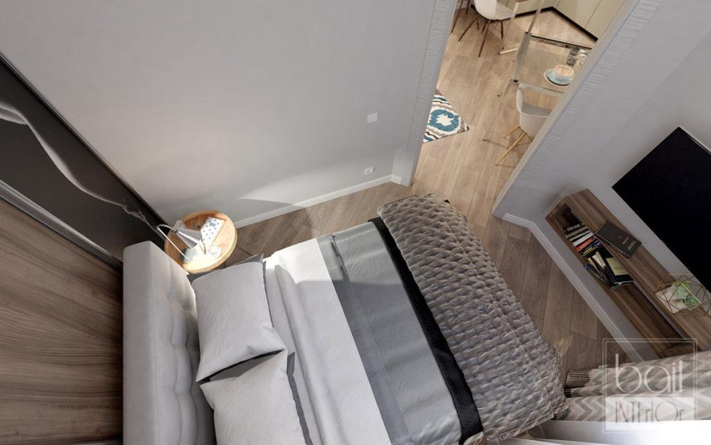 дизайн интерьера маленькой спальни