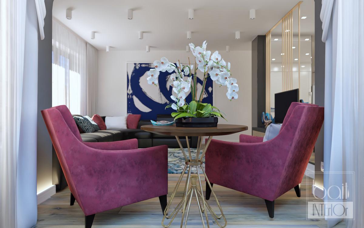 Дизайн интерьера двухуровневой квартиры в Туапсе