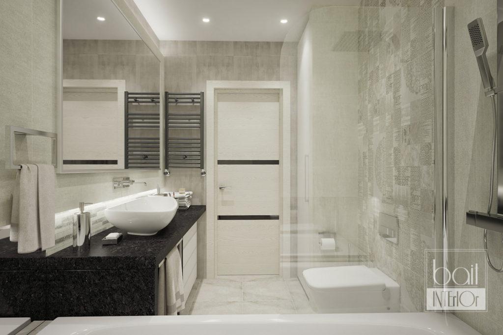 дизайн интерьера ванной в стиле минимализм