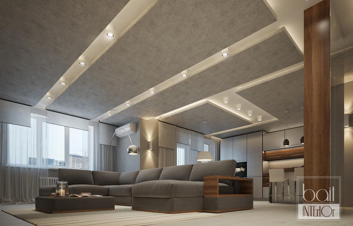 Интерьер двухкомнатной квартиры для молодого парня с стиле минимализм