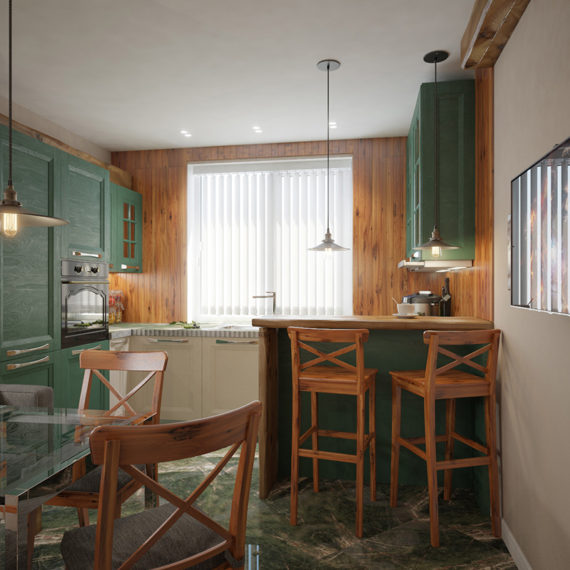 Дизайн интерьера кухни в стиле кантри