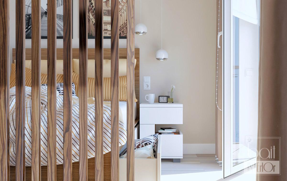 Дизайн интерьера квартиры — студии в современном стиле