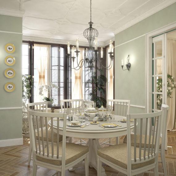 Дизайн интерьера дома с стиле французскиого прованса