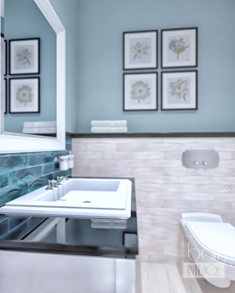 интерьер ванной в стиле кантри