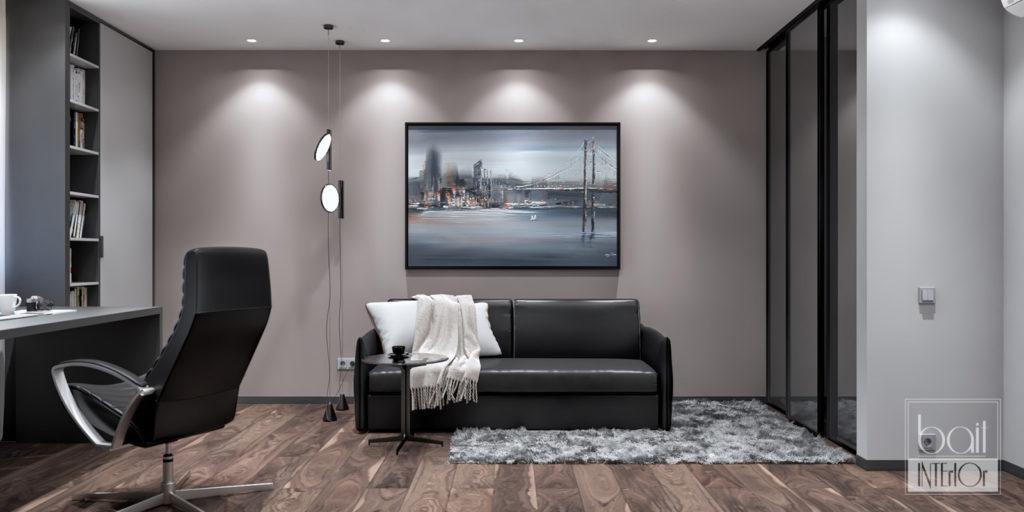 дизайн кабинета в стиле минимализм